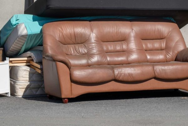 Can a sofa go into a skip