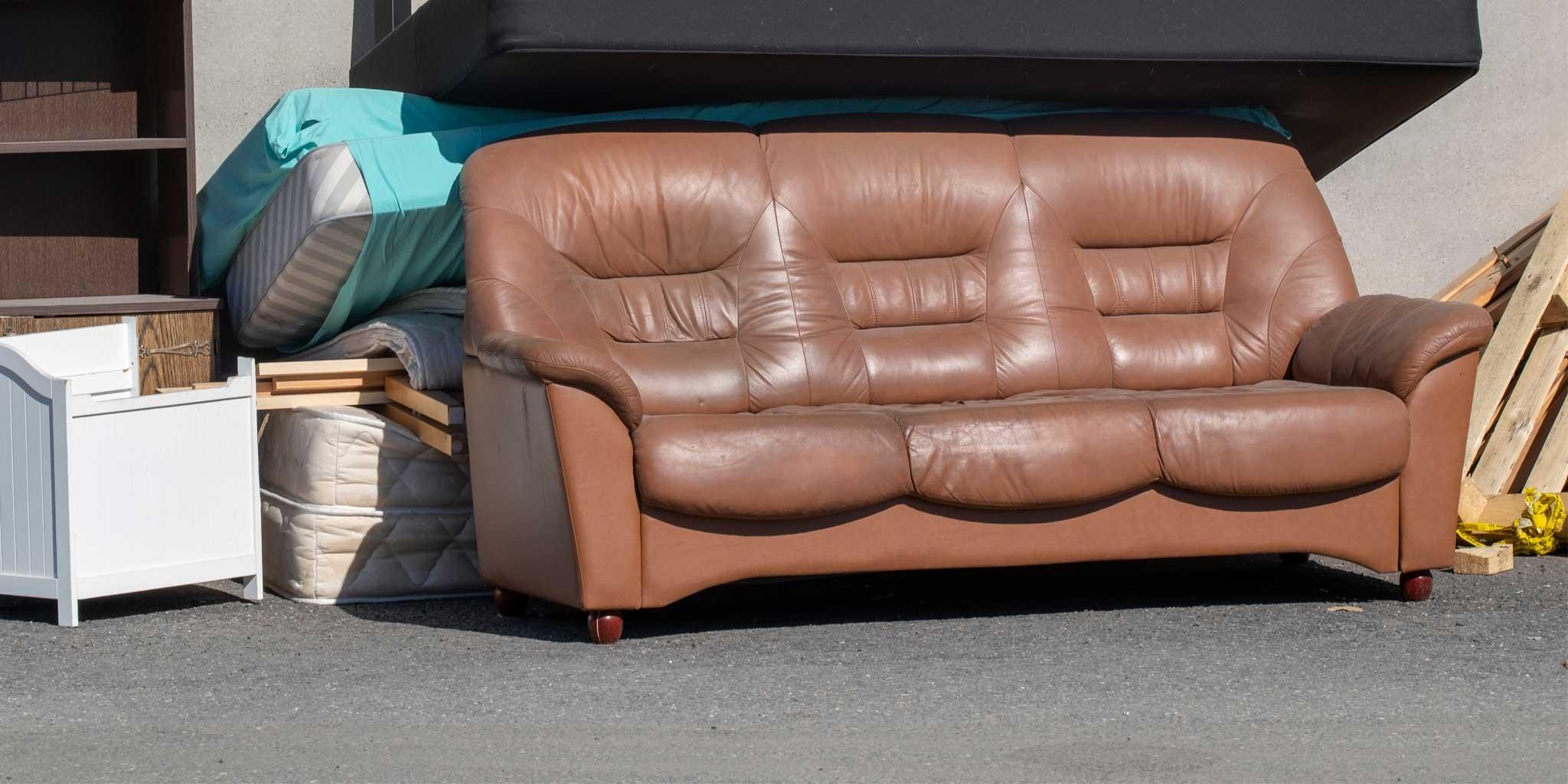 Can a sofa go into a skip